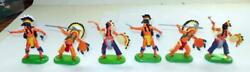 Britains Indians 6 Figures 7511 Made In China In 1971