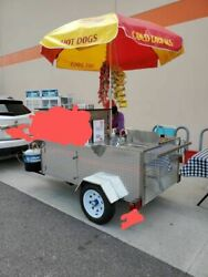 Turnkey 2019 4' x 9' DreamMaker Oceanside Pro Food Cart w BBQ Grill and Trailer