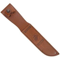 Ka-bar Knives Brown Leather Embossed Usmc Replacement Belt Sheath 1217s