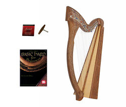 Roosebeck Minstrel Harp 29-string W/ Full Chelby Levers + Learn To Play Book