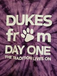 James Madison University Dukes Purple tye dye medium Tshirt Dukes from day one $2.99