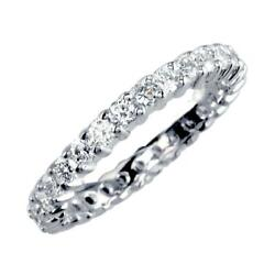 Eternity Band With Round Diamonds 1.24ct In 18k White Gold