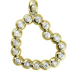 Large Size Open Diamond Bead, Ball Heart, 1.55ct In 14k Yellow Gold