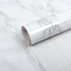 Gray Marble Self-adhesive Contact Paper Kitchen Furniture Countertop Wall Decor