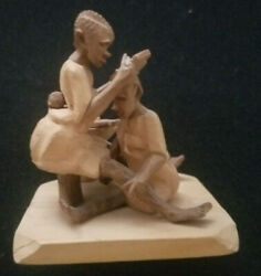 Rare Ibaden Nigeria Wood Carving By Arts And Craft Studio 1960's 3 X 3 X 3