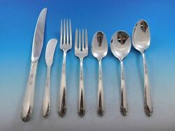 Heiress By Oneida Sterling Silver Flatware Set For 8 Service 60 Pieces
