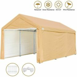 10'x20' Heavy Duty Carport Canopy Car Garage Boat Shelter Party Tent With 8 Legs