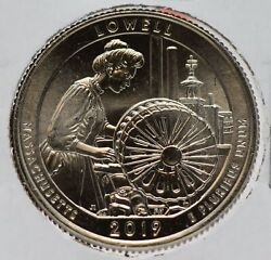 2019-w Lowell National Park Quarter Atb America The Beautiful - West Point Jd443