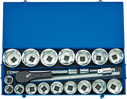 Draper 16485 1 Sq. Dr. Metric Socket Set In Metal Case 22 Piece