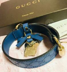 GUCCI Authentic For Small Dog Collar with French Bull Boston Terrier Charm New