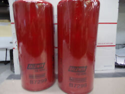Lot Of 2 Baldwin B7299 High Efficiency Spin-on Oil Filter Fits Caterpillar Cat