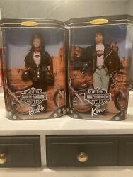 Harley Davidson Barbie Doll 22256 And Hd Ken Doll 22255.never Opened
