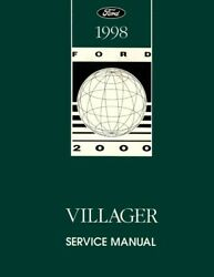 1998 Mercury Villager Shop Service Repair Manual