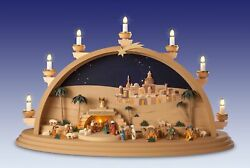 Candle Arches Nativity Electric Bxhxt 27 58x15 1116x6 78in New Light Bow