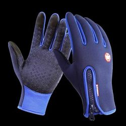 Cycling Gloves Full Finger Touch Screen Waterproof Breathable Keep Warm Antislip