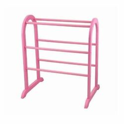 Girls Pink Wooden Quilt Rack Blanket Bedspread Stand Storage Vintage Display
