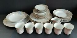 37 Pc Mikasa Charisma Beige-6andnbspplace Settings W/serving Platter And Bowl + 4 Extras