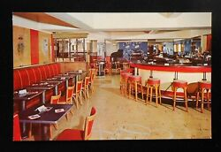 1960s Interiors The Fife And Drum Restaurant And Bar Witherill Hotel Plattsburg Ny