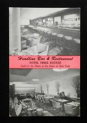 1940s Interiors Headline Bar And Restaurant Hotel Times Square 43rd St. Nyc Ny Pc