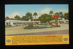 1956 Palms Motor Court O. D. Wolfe 137 San Marco Ave. St. Augustine Fl St. Johns