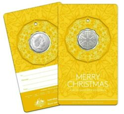 Australia 2019 50c 50 Cent Christmas Decoration Foilhang On Your Tree Yellow