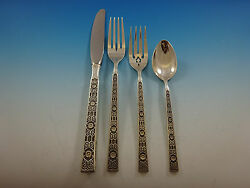Spanish Tracery By Gorham Sterling Silver Flatware Service For 8 Set 34 Pieces