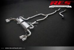 Res Racing Catback With Two Tailpipes Each Side For Chevrolet Camaro 3.6