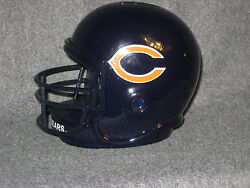 Chicago Bears Vintage Style Helmet With Face Guard 1985 Ceramic Coin Bank Nib