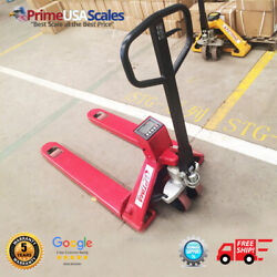 Op-918p-5000 Pallet Jack Scale 5,000 Lb With Printer 80 Hour Battery Life