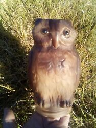 Consolidated Lamp And Glass Screech Owl 7 Vintage
