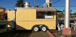 Used Fully Self-Contained 2000 18' Wells Fargo Cargo Food Concession Trailer for