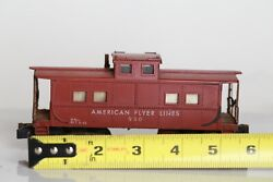 American Flyer S Gauge 930 Lighted Caboose Car Real Rust Rusty Weathered