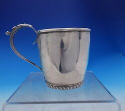 Hobbs Coin Silver Childand039s Cup 4 1/2 Tall X 3 1/2 C.1816-1865 Engraved 3969