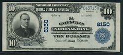 Fr634 6150 10 1902 P.b. Gatesville Tx Rare 3 Known This Is The Finest Wlm9517