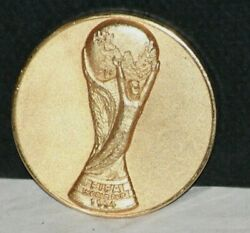RARE! 1994 FIFA WORLD CUP SOCCER  GOLD MEDAL TO BRAZILIAN TEAM PLAYER