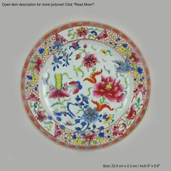 Antique Rare Famille Rose 18th Century Chinese Porcelain Plate Amsterda...