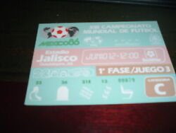 Ticket 1986 Mexico World Cup Northern Ireland v Brazil 12th June