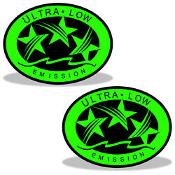 Ultra Low Emission 3 Star California Dot Outboard Graphic Sticker Decal - Green