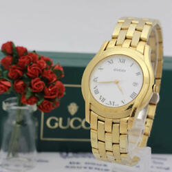 5400m Ladies Womens Wrist Watch Gold Color Used Free Shipping From Japan