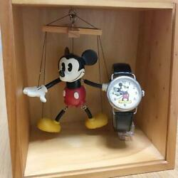 Fossil and Disney collaboration Wrist Watch Mickey amp; CO Used Puppet Wooden Box $209.00
