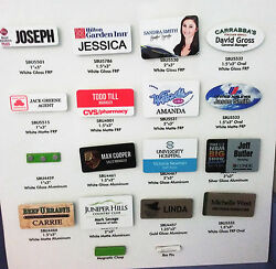 Lot 0f 50 1.25 X 3 Metal Name Tag Badge Full Color Printing With Magnetic