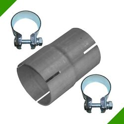 Pipe Reducer 60mm on 65mm Exhaust Adapter Band Steel Clips Connector 3#