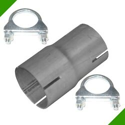 Pipe Reducer by 50mm on 55mm Exhaust Adapter 2 Clips Reduzierrohr 7#