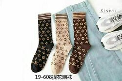 NEW  3 Color Cotton Socks Design One Size Fits 100%NEW AAAAA+ $8.50