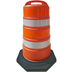 Plastic Channelizer Traffic Safety Drums - 41 Height - Reflective Sheets