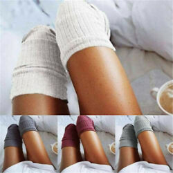 Soft Women Winter Warm Cable Knit Over knee Long Boot Thigh High Socks Stocking $3.60