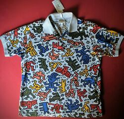 Nwt Lacoste X Keith Haring Mens Allover Figures Special Edition Polo Shirt Med