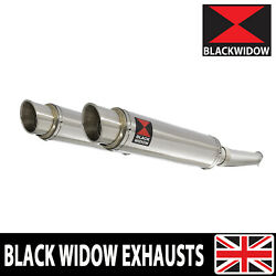 Vtr 1000 F Superhawk Twin Exhaust Muffler Kit Gp Round Stainless Sg35r