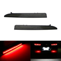 Smoked Lens 28-smd Red Led Bumper Reflector Lights For 16-up Chevrolet Camaro