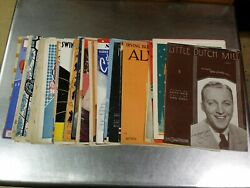 57 Piece Antique Piano And Organ Popular Sheet Music And Song Book Lot, 1920-1938